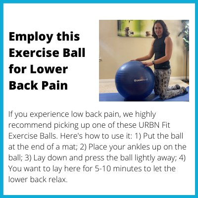 Employ this Exercise Ball for Lower Back Pain